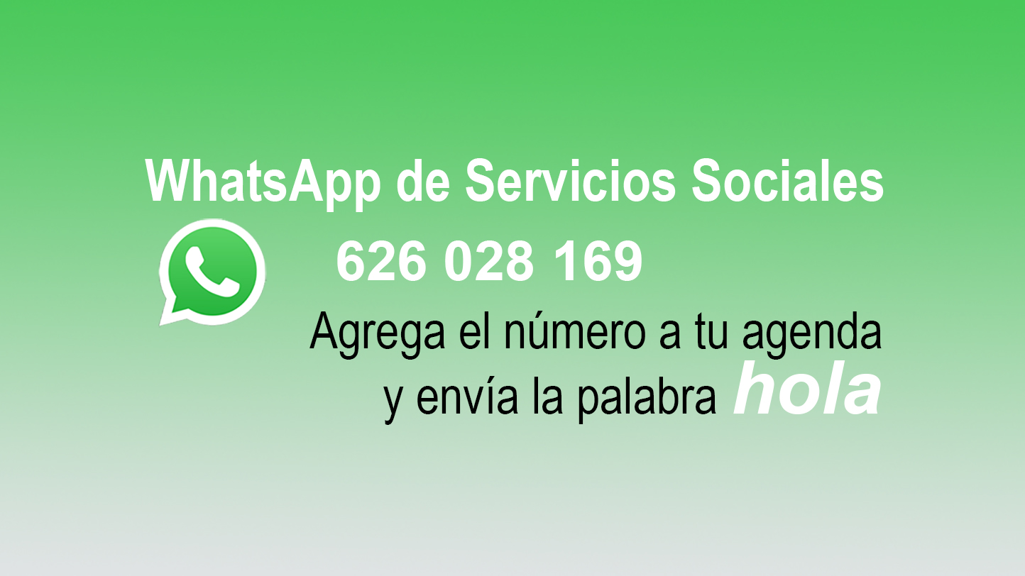 WhatsApp de Servicios Sociales