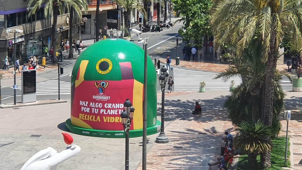 Reciclatge vidre Eurobasket femení 2021