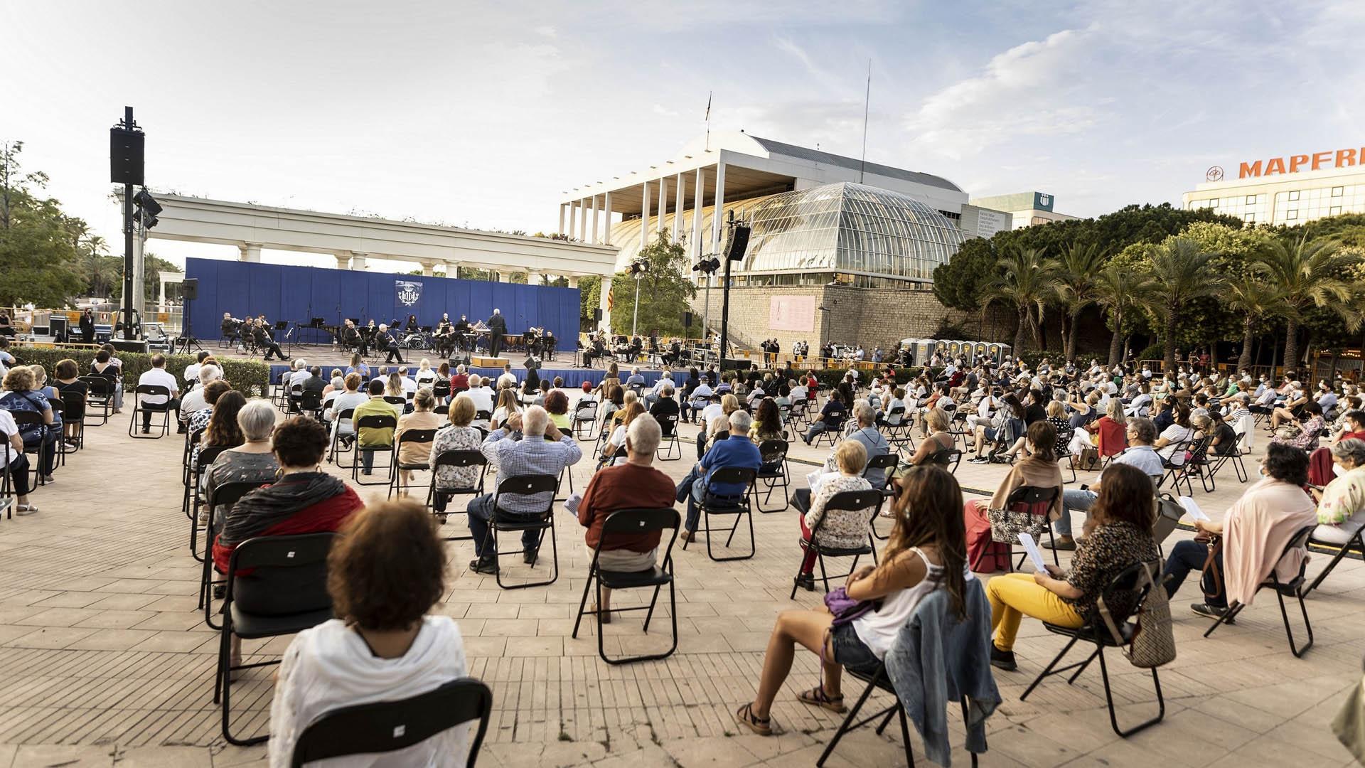 Tecer concierto Banda Sinfònica en los Jardines Palau